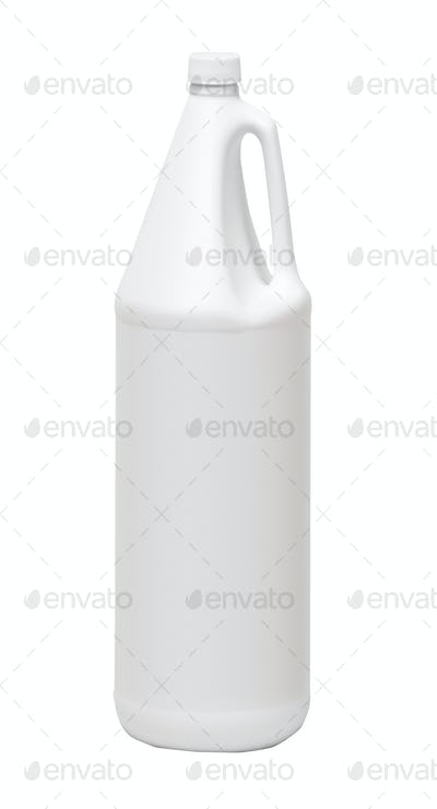 white plastic bottle isolated on a white background