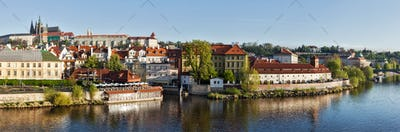 Panorama of historic center of Prague: Gradchany (Prague Castle
