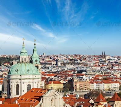 Aerial view of Prague from Prague Castle