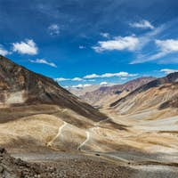 Himalayan landscape with road, Ladakh, India