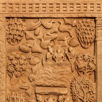 Gateway decoration Great Stupa. Sanchi, Madhya Pradesh, India