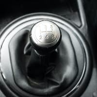 Close up view of a gear lever shift