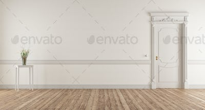 Empty living room in classic style