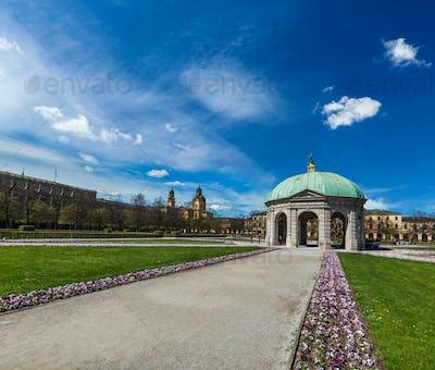 Pavilion in Hofgarten. Munich, Germany