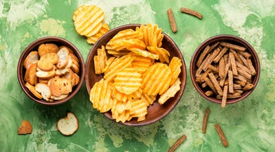 Salty snacks,potato chips