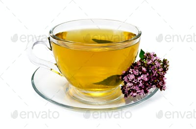 Herbal tea with oregano