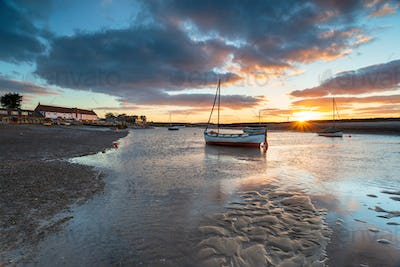 Burnham Overy Staithe a pretty fishing village on the Norfolk Co