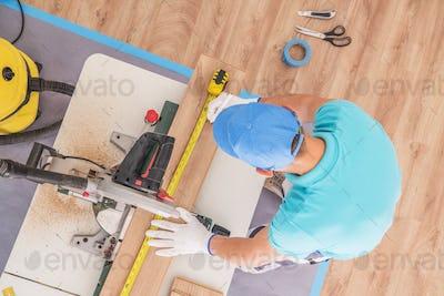 Flooring Contractor at Work