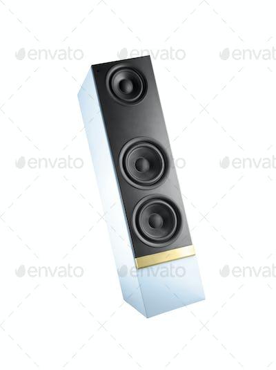 Big speaker isolated on white background