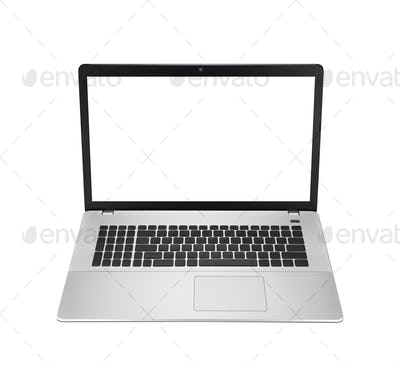 Laptop computer isolatd on white