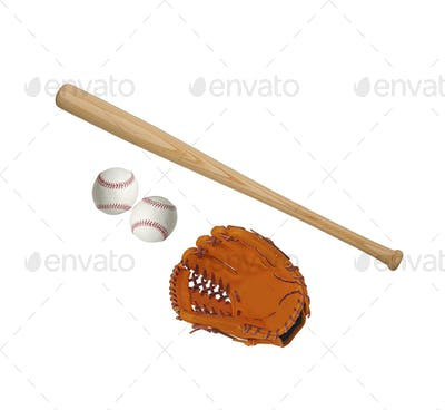 baseball theme isolated on white background