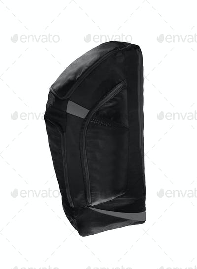 big black travel bag isolated on white background