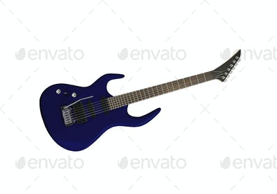 Electrick Guitar isolated on white background