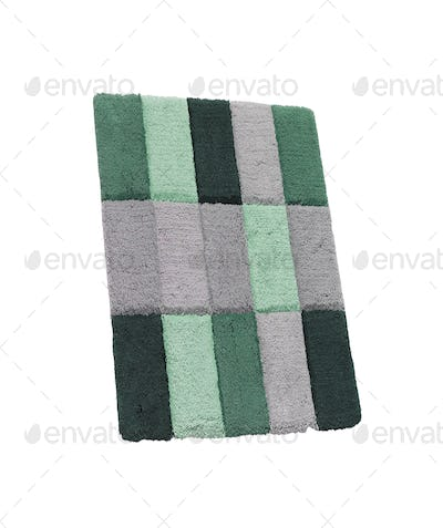 bath rug isolated on white background
