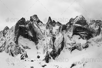 Detail of the Sciore group in the Rhaetian  Alps in Switzerland.