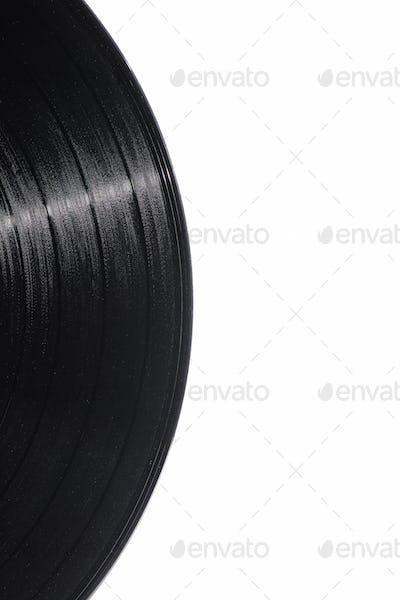 Detail of vinyl record