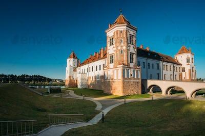 Mir, Belarus. Castle Complex Mir. Cultural Monument, UNESCO Worl