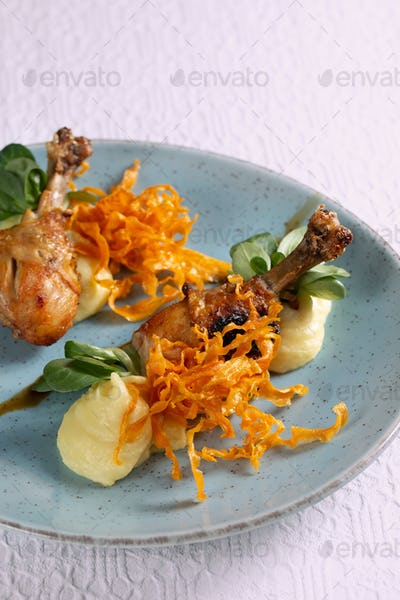Roasted spicy chicken legs