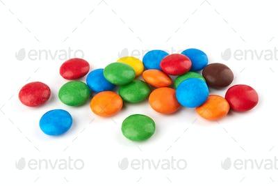 candies on white