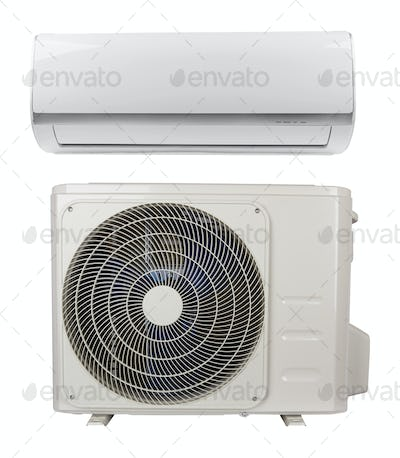 air conditioner on white