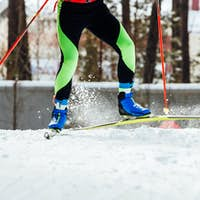 feet skier athlete