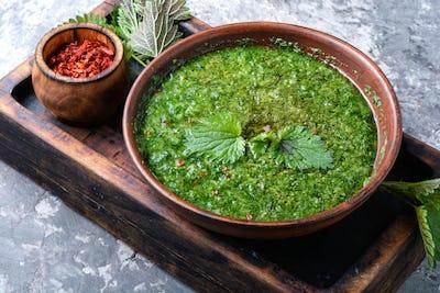 Green nettle soup