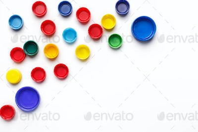 Plastic trash abstract background