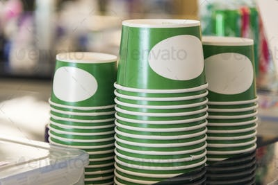 Stack of disposable cup container