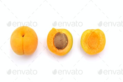 Isolated apricot