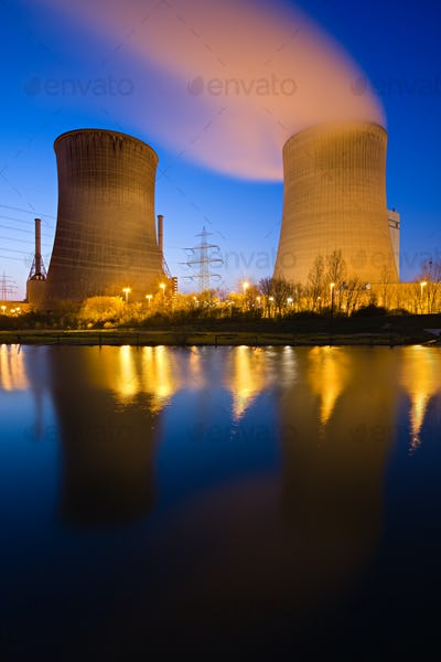 Twin Cooling Towers