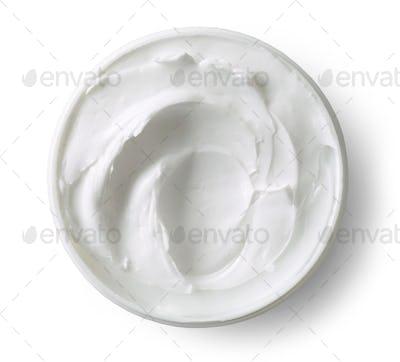 white cocmetic cream
