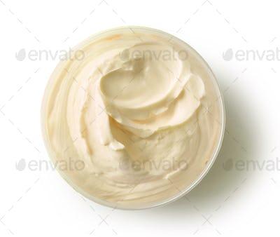 yellow cosmetic cream