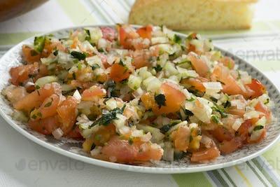 Traditional  Moroccan  fresh vegetable salad