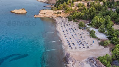 Metalia beach. Thassos island, Greece