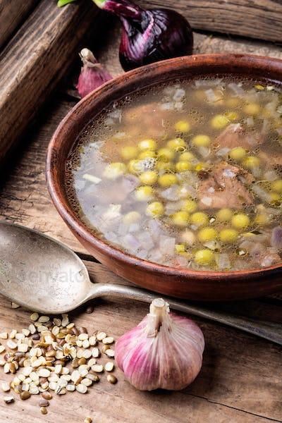 Traditional Peruvian chicken soup