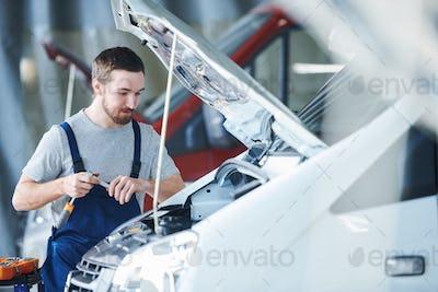 Work of repair service engineer