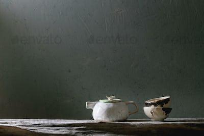 Craft ceramic teapot