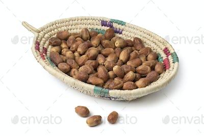 Basket with dried Zahedi dates