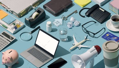Messy disorganized desktop