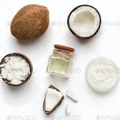 Organic coconut spa concept