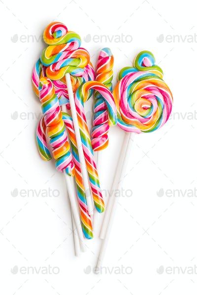 Set of colorful lollipops.