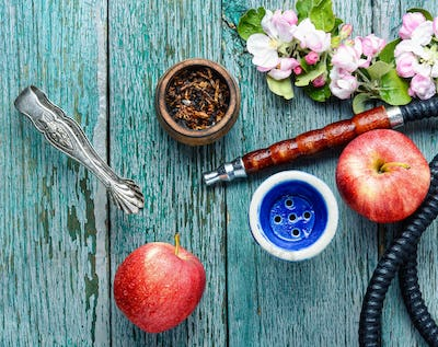 Hookah with apple tobacco