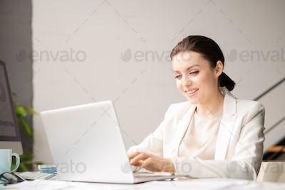 Networking businesswoman