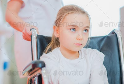 Disabled Girl on a Wheelchair