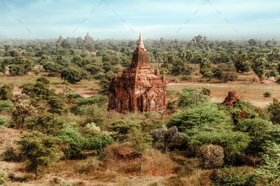 Temples at Bagan Kingdom, Myanmar (Burma)
