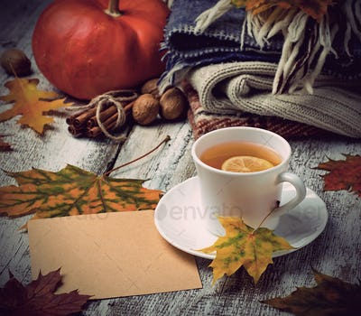 Cup of  tea and warm clothes.