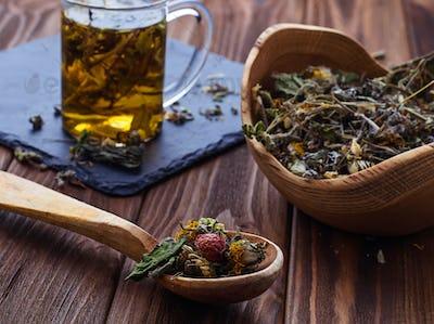 Herbal tea and dried herbs