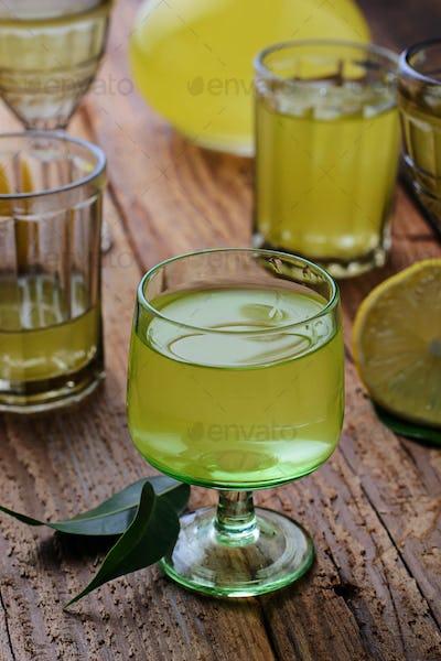 Limoncello, Italian liqueur with lemons