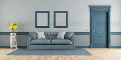Blue elegant living room