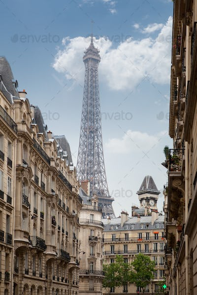 view on the Eiffel Tower in Paris